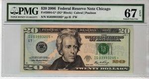Fr.2094-G* $20 2006 Chicago STAR PMG Superb GEM 67 EPQ