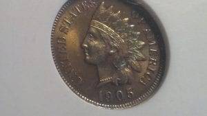 1905 Indian Cent ANAC UNC details MS 60 (recolored)