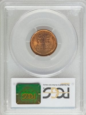 1928 LINCOLN CENT PCGS MS65 RB