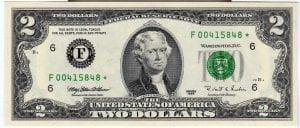 Fr.1936-F* $2 1995 Atlanta STAR FRN GEM CU