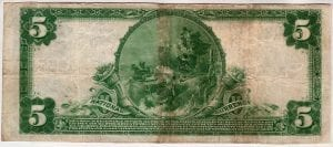 $5 1902 Plain Bank The First National Bank of Cutchogue, NY CH# 12551