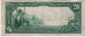 $20 1902 Plain Back The First National Bank of Mineola , NY CH# 9187