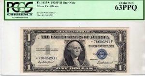 Fr.1615* $1 1935 F STAR PCGS Choice New 63 PPQ