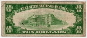 $10 1929 The First National Bank and Trust Company of Bay Shore, NY CH# 10029