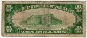 $10 The First National Bank of East Islip, NY CH# 9322