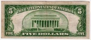 $5 1929 the Garrett National Bank in Oakland ,MD CH# 13776