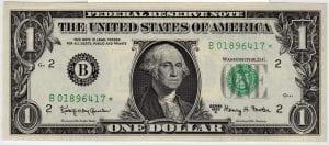 Fr.1901-B* $1 1963 A New York STAR GEM CU