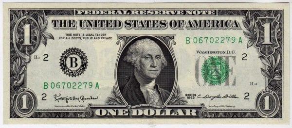 Fr.1900-B $1 1963 New York GEM CU