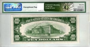 Fr.1705W $10 1934 D Wide PMG GEM Uncirculated 66 EPQ