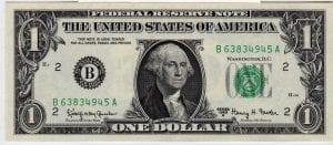 Fr.1901-B $1 1963 A New York GEM CU