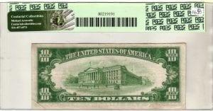 Fr.2003-B $10 1928 C New York LGS PCGS Very Fine 25 PPQ