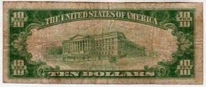 $10 1929 The Mattituck National Bank and Trust Company Mattituck, New York CH# 13445