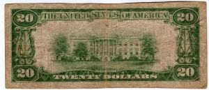 $20 1929 The First National Bank of Brighton, IL CH# 9397