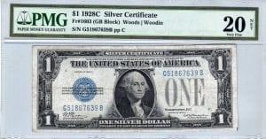 Fr.1603 $1 1928 C G-B  Block PMG Very Fine 20 net