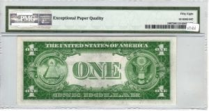 Fr.1607 $1 1935 K-A Block PMG Choice About Uncirculated 58 EPQ