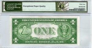 Fr.1607 $1 1935 A-A Block PMG Choice Uncirculated 64 EPQ