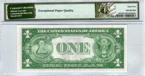Fr.1607 $1 1935 D-A Block PMG GEM Uncirculated 65 EPQ