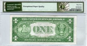 Fr.1607 $1 1935 E-A Block PMG Choice Uncirculated 64 EPQ