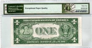 Fr.1611 $1 1935 B F-D Block PMG Choice Uncirculated 64 EPQ