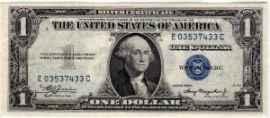 Fr.1608 $1 1935 A E-C Block About Uncirculated