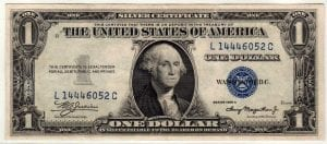 Fr.1608 $1 1935 A L-C Block About Uncirculated