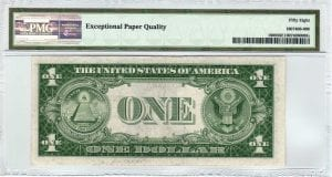 Fr.1608 $1 1935 A U-C Block PMG Choice About Uncirculated 58 EPQ
