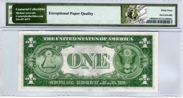 Fr.1608 $1 1935 A C-B Block PMG Choice Uncirculated 64 EPQ