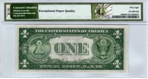 Fr.1608 $1 1935 A F-C Block PMG Choice About Uncirculated 58 EPQ