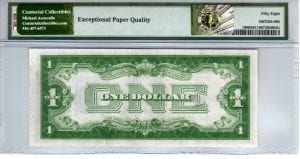 Fr.1606 $1 1934 G-A Block PMG Choice About Uncirculated 58 EPQ