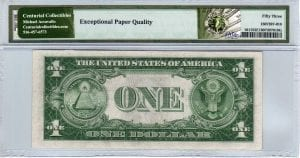 Fr.1611 $1 1935 B H-D Block PMG About Uncirculated 53 EPQ