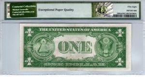 Fr.1608m $1 1935 A Q-A Block Mule PMG Choice About Uncirculated 58 EPQ