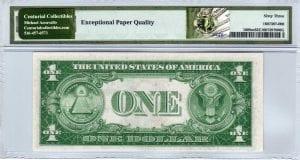 Fr.1608m $1 1935 A R-A Block Mule PMG Choice Uncirculated 63 EPQ