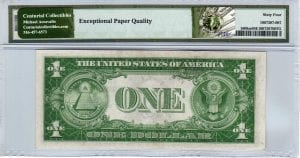 Fr.1608m $1 1935 A S-A Block Mule PMG Choice Uncirculated 64 EPQ