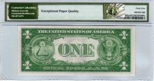 Fr.1608m $1 1935 A U-A Block Mule PMG Choice Extremely Fine 45 EPQ
