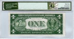 Fr.1608 $1 1935 A Y-C Block PMG Choice Uncirculated 64 EPQ