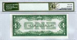 Fr.1602exp $1 1928 B Z-B Block PMG Choice About Uncirculated 58