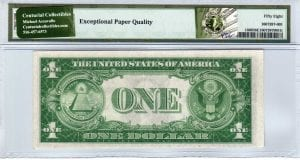 Fr.1608 $1 1935 A Z-A Block PMG Choice About Uncirculated 58 EPQ