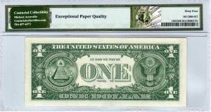Fr.1621 $1 1957 B W-A Block PMG Choice Uncirculated 64 EPQ