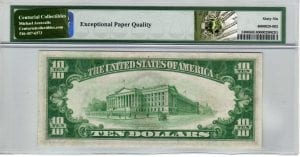 Fr.2400 $10 1928 Gold Certificate PMG GEM Uncirculated 66 EPQ