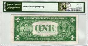 Fr.1607m $1 1935 R-A Block Mule PMG Choice Uncirculated 64 EPQ