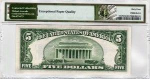 Fr.1654Wii $5 1934 D U-A Block Wide II PMG Choice Uncirculated 64 EPQ