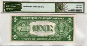 Fr.1608 $1 1935 A Y-A Block PMG Choice Uncirculated 64 EPQ