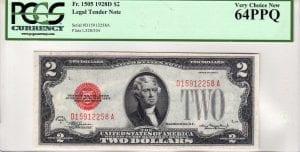 Fr.1505 $2 1928 D D-A Block PCGS Very Choice New 64 PPQ