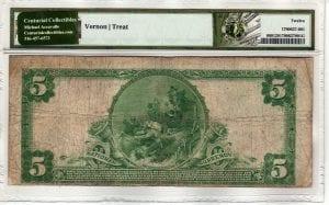 $5 1902 Plain Back The First National Bank of Mineola Mineola, NY CH# 9187 PMG FINE 12