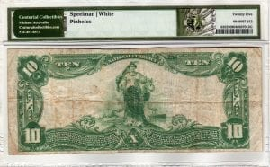 $10 1902 Plain Back The Hampton Bays National Bank, NY CH# 12987 PMG Very Fine 25