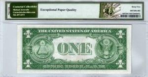 Fr.1607 $1 1935 E-A Block PMG GEM Uncirculated 65 EPQ