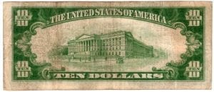 $10 1929 The Roslyn National Bank and Trust Company Roslyn , New York CH# 13326 Fine