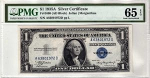 Fr.1608 $1 1935 A A-D Block PMG GEM Uncirculated 65 EPQ