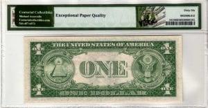 Fr.1615 $1 1935 F W-I Block PMG GEM Uncirculated 66 EPQ
