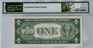 Fr.1615 $1 1935 F Z-I Block PMG GEM Uncirculated 65 EPQ